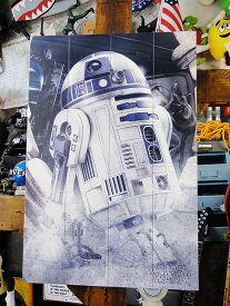 映画「スターウォーズ」R2-D2のウッドパネルアート