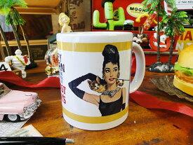 映画「ティファニーで朝食を」オードリー・ヘップバーンのマグカップ