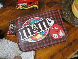 m&m'sコインケース&パスケース(ブラウン)
