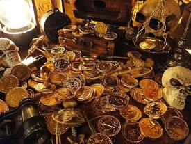 【即納】【在庫あり】カリブ海の海賊の金貨 袋にどっさりセット