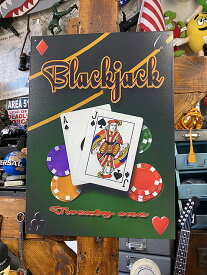 ブラックジャックのブリキ看板(TWENTY ONE)