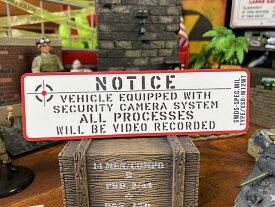 ドラレコ装着車に!ミリタリー・ヴィークル・セキュリティステッカーMサイズ(ロング/ホワイト)ドライブレコーダー録画中ステッカー VSD-M12WT