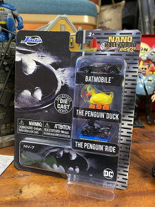 Jada ナノ・ハリウッドライズ 映画「バットマン」バットモービル&ペンギンダック&ペンギンライドのダイキャストミニカー 3台セット