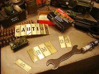所ジョージさんも世田谷ベースで愛用してるHanson社のステンシルプレート45ピース英数字セット(3/4インチ)■メタル製■真ちゅう製■真鍮製■アメリカン雑貨アメリカ雑貨