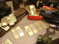 所ジョージさんも世田谷ベースで愛用してるHanson社のメタルステンシルプレート45ピース英数字セット(1.5インチ)メタル製真ちゅう製真鍮製■アメリカ雑貨アメリカン雑貨輸入インテリアグッズDIYステンシルプレート世田谷ベース