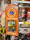 ユノカル76のウッドミラーボード ■ アメリカ雑貨 アメリカン雑貨 壁面装飾 装飾 ディスプレイ 内装 人気 ウォールデ…