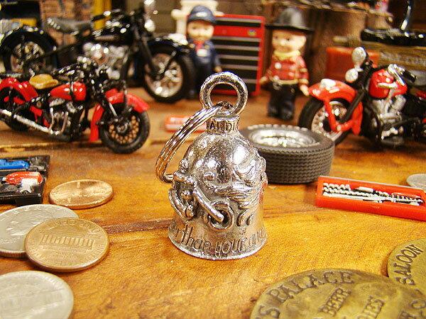 アメリカのバイカーのお守り ガーディアンベル(バイク&エンジェル) ■ バイカーに人気のお守り アメリカ雑貨 アメリカン雑貨 ハーレーダビッドソン Harley-Davidson バイカーベル プレゼント バイク乗り 鉄馬 ロゴ おしゃれ かっこいい
