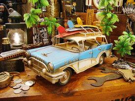サーフワゴンのブリキカー ■ アメリカ雑貨 アメリカン雑貨 西海岸 西海岸スタイル アメリカ 雑貨 インテリア 小物 カリフォルニア 西海岸風 レトロ アメリカン