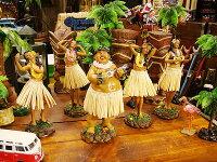 ハワイアンフラドールのフィギュア(5体オールセット)★ハワイ雑貨★アメリカ雑貨★アメリカン雑貨