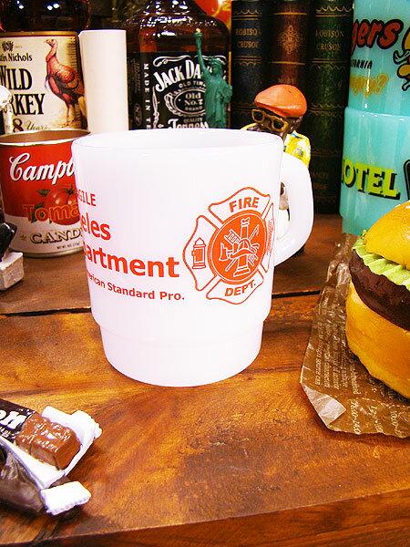 ミルキースタッキングプラスチックマグ(ファイヤーマン) ■ マグカップ■ アメリカ雑貨 アメリカン雑貨