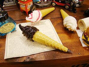 ソフトクリームのボールペン(チョコ) ■ アメリカ雑貨 アメリカン雑貨 アメリカ 雑貨 キャラクター ペン ボールペン 文具 文房具 かわいい おもしろ 可愛い ギフト プレゼント