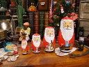 Xmasになったら出会える...置物の傑作! サンタマトリョーシカ ■ 飾り インテリア 装飾 メリー クリスマス ディスプ…
