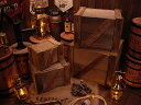 輸出用木箱 Bタイプ 茶 Lサイズ ■ 「楽天1位」 ■ アンティーク風木箱 木箱 小物入れ ガーデニング ケース 小物 ボッ…