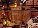 輸出用木箱 Aタイプ 茶 LLサイズ ■ 「楽天1位」 ■ アンティーク風木箱 木箱 小物入れ ガーデニング ケース 小物 ボ…