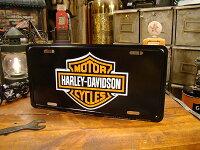 ハーレーダビッドソンのライセンスプレート(バー&シールドロゴ/ブラック)
