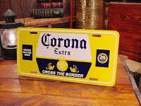 コロナビールのライセンスプレート