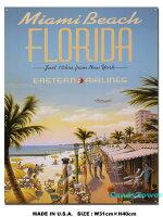 アメリカンブリキ看板フロリダのトラベルポスター