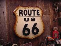 ルート66のロードサインウッドボード