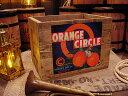 クレートラベルボックス Lサイズ NO.9 ORANGE CIRCLE ■ 木箱 小物入れ ガーデニング ケース ボックス 通販 ワイン ア…