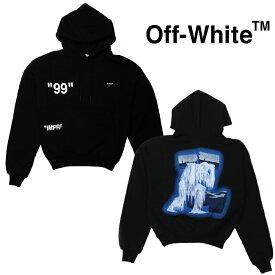 OFF-WHITE オフホワイト パーカー メンズ 長袖 ICE MAN OVER HOODIE(BLACK MULTICOLOR)【OMBB037R19B970011088】