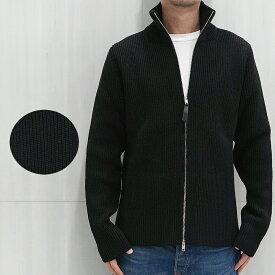 マルジェラ ニット ダブル ジップ ドライバーズニット メンズ メゾンマルジェラ MAISON MARGIELA ribbed-knit zip-front cardigan (900F / BLACK) 【S50GP0246-S17791】