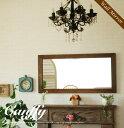 鏡 壁掛け ウォールミラー ミラー アンティーク おしゃれ 北欧 木 全身 四角 ブラウン 壁掛け鏡 壁掛けミラー シンプ…