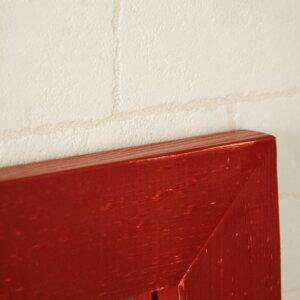 ミラー壁掛け鏡アンティーク四角正方形スクェアー50cmx50cm【レビューで200円OFF!】レッド赤ウォールミラーモダンシンプル風水木製アンティーク調アンティーク風レトロナチュラルカントリードレッサー日本製madeinJapan