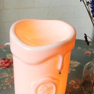 アロマランプキャンドル型電気式人気アロマライトアロマテラピーアロマポットアロマアロマオイルリラクゼーション照明おしゃれ北欧雑貨コンセント癒し安眠香りフレグランスリラックス姫寝室ライト効果オイル容器オイル容器卓上ライト