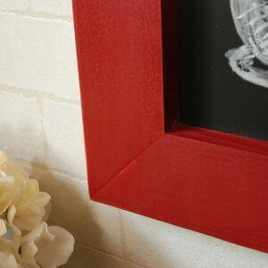 ブラックボード黒板壁掛け50cmx100cm木製フレーム木製フレームレッド赤メニューボードカフェボードウェルカムボード看板カフェ大型北欧カフェ風おしゃれカントリーアンティークアンティーク風アンティーク調ショップ店舗店頭木木枠