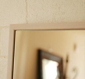 ミラー鏡壁掛けウォールミラー正方形スリークフレームミラーフラット【レビューで500円OFF!】アンティーク52×52cm真四角細枠ホワイトブラウン卓上ドレッサーにも♪ジャンボミラーモダン北欧姫ロココ調Canffyオリジナル商品