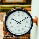壁掛け時計 両面時計 Mccarty 掛け時計 ウォールクロック 掛時計 時計 壁掛け 北欧 アンティーク レトロ ステーション…