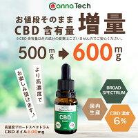CBDオイルCBDオイル5%CannaTechCBD500mgブロードスペクトラムCBDオイル