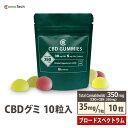 【毎日発送】CBD グミ CBD 300mg 1粒30mg 10粒 新ブロードスペクトラム 特許製法 高濃度 リニューアル CannaTech 日本…