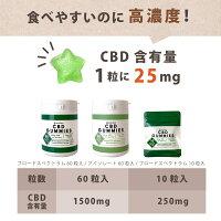 CBDグミ高濃度CBD1500mg配合1粒25mg配合60粒入cbdグミCannaTech国産国内製造cbdgummigumiブロードスペクトラムCBDオイルCBDoilカンナビジオールカンナビノイド