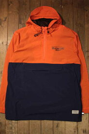 "KUSTOMSTYLE SO-CAL""SUPREME QUALITY"" NYLON ANORAK JACKETORANGE×NAVY【KUSTOMSTYLE】(カスタムスタイルソーキャル)正規取扱店(Official Dealer)Cannon Ball(キャノンボール)【送料無料/あす楽】"
