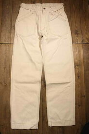 """AT-DIRTY""""WORKERS PANTS""""IVORY【AT-DIRTY】(アットダーティー)正規取扱店(Official Dealer)Cannon Ball(キャノンボール)【あす楽対応/送料無料/ワークパンツ/ワーカーズ/ツイル/ホワイトデニム/ベイカー】"""
