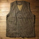 "AT-DIRTY""WORKERS VEST""BROWN HICKORY【AT-DIRTY】(アットダーティー)正規取扱店(Official Dealer)Cannon Ball(キャノンボール)【あす"