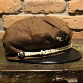 """AT-DIRTY""""M.C CAP""""BROWN【AT-DIRTY】(アットダーティー)正規取扱店(Official Dealer)Cannon Ball(キャノンボール)【あす楽対応/モーターサイクルキャップ/MOTORCYCLE CAP】"""