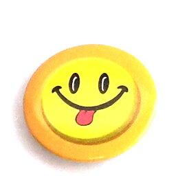 缶バッチ 可愛い缶バッチ スマイルフェイス缶バッチ オレンジ フェイスデザイン缶バッチ アメリカンデザイン h-kb7
