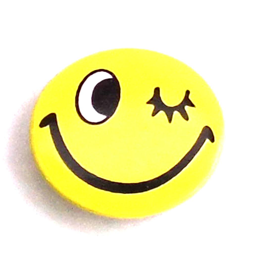 缶バッチ 可愛い缶バッチ ウインクフェイス缶バッチ スマイルちゃん ニコちゃん アメリカンデザイン ストリート 【2.5cm】 h-kb17