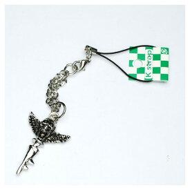 羽が生えた髑髏に鍵がついてるデザインストラップ /携帯ストラップ