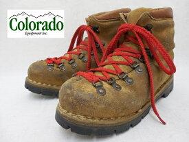 【COLORADO : コロラド】マウンテンブーツ/登山靴Vibramソール仕様 Italy製【サイズ: 24cm相当】【カラー:ブラウン系】【アメリカ古着 USA買い付け】f-2086【中古】【USED】【古着】【あす楽対応】【メンズ レディース】