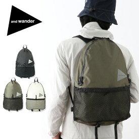 【キャッシュレス 5%還元対象】アンドワンダー 20L デイパック and wander 20L daypack AW-AA990 バックパック ザック リュックサック バッグ <2019 春夏>