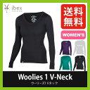 <残りわずか!>【35%OFF】アイベックス 【ウィメンズ】 ウーリーズ1Vネック IBEX 【送料無料】 Women's woolies レ…