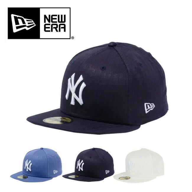 ニューエラ 59FIFTY リネンヘリンボーン ニューヨークヤンキース 【送料無料】 【正規品】NEW ERA 帽子 キャップ