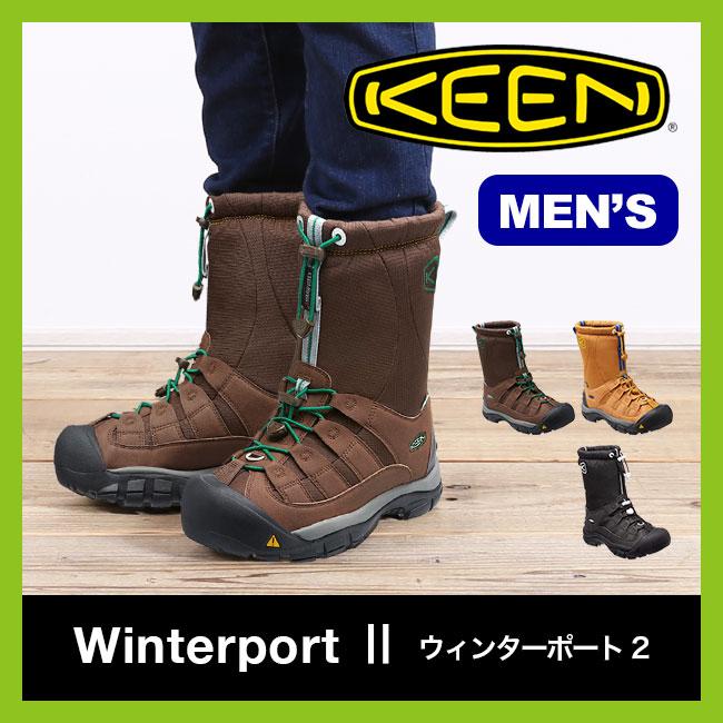 【40%OFF】KEEN キーン ウィンターポート2 メンズ【送料無料】スノーブーツ ウィンターブーツ 男性 レインブーツ 防水 防寒 アウトドア スキー スノーボード 雪山 長靴 Winterboot2