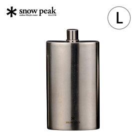 【キャッシュレス 5%還元対象】スノーピーク チタンスキットル L snow peak Titanium Flask L スキットル アルコール お酒 水筒 ボトル チタン T-013 <2019 春夏>
