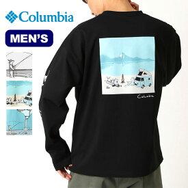 コロンビア レイクトゥーアヴェニューロングスリーブティー Columbia Lake To Avenue Long Sleeve Tee メンズ PM4739 Tシャツ 長袖 ロングスリーブ トップス コラボ ジョナス・クレアッソン 速乾 UVカット アウトドア 【正規品】
