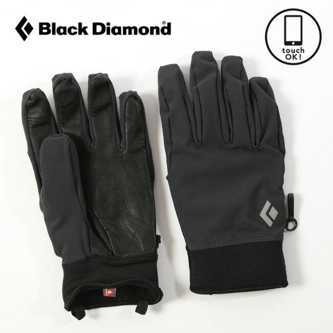 ブラックダイヤモンド ミッドウェイトソフトシェル Black Diamond グローブ 手袋 ソフトシェル シェル アクセサリー 撥水 スマホ対応 タッチパネル BD71620 <2018 秋冬>
