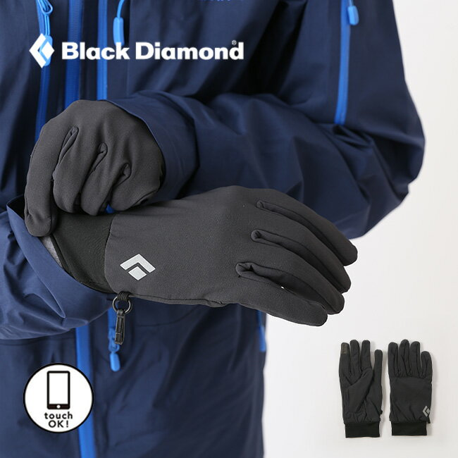 ブラックダイヤモンド ライトウェイトソフトシェル Black Diamond グローブ 手袋 ソフトシェル シェル アクセサリー 撥水 スマホ対応 タッチパネル BD71630 <2018 秋冬>